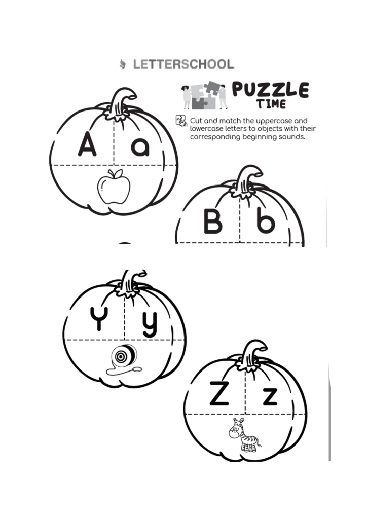 Free Autumn Alphabet Activity for Prek, Preschool, Kindergarten and Homeschooling